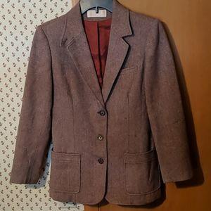 Pendleton Vintage Wool Three Button Blazer
